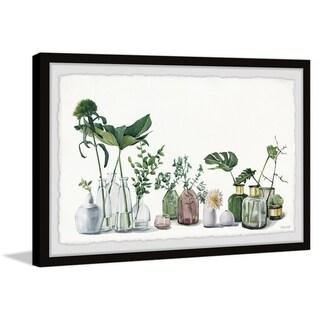 'Glass Flower Vase' Framed Painting Print