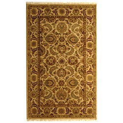 Safavieh Hand-knotted Ivory/ Ivory Eternity Wool Rug (5' x 8')