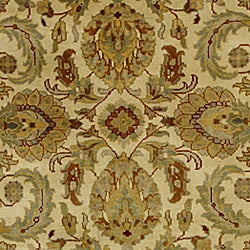 Hand-knotted Ivory/ Ivory Eternity Wool Rug (8' Round)