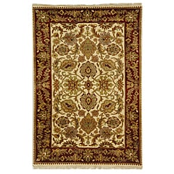Safavieh Hand-knotted Ivory/ Red Everlasting Wool Rug (5' x 8')