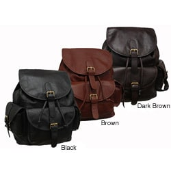 Amerileather Urban Buckle-Flap Backpack