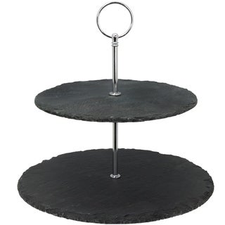 Creative Home Slate 2-tier Cake Stand, Dessert Server