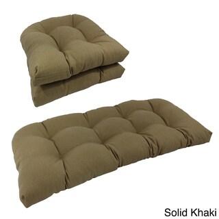 Blazing Needles Indoor Wicker Settee Cushions