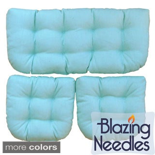 Blazing Needles Indoor Wicker Settee Cushions