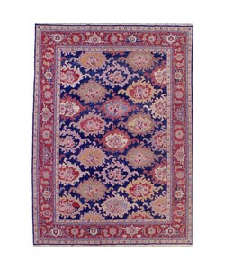 Updated Traditional Pink Blue Rug 9 9 X 12 2 15615821