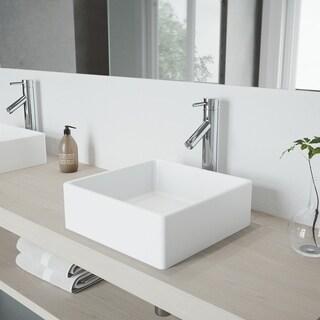 VIGO Chrome Finish Bathroom Vessel Faucet
