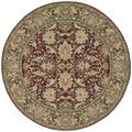 Nourison Hand-knotted 16th Century Red Rug (8' Round)