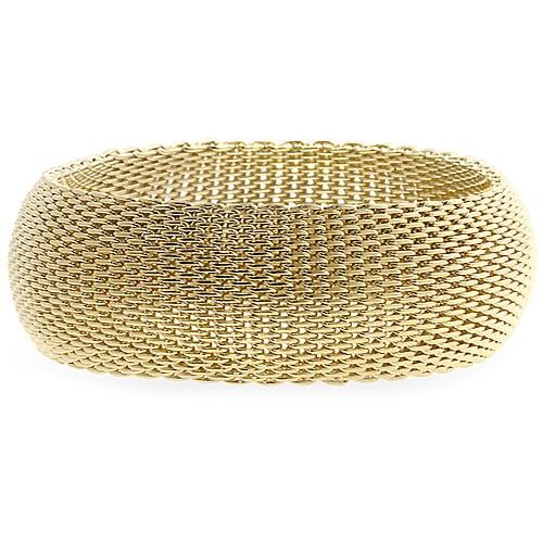 Kate Bissett Goldtone Thick Woven Bracelet