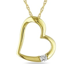 Haylee Jewels 10k Yellow Gold Diamond Accent Heart Necklace