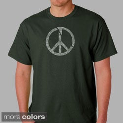 Los Angeles Pop Art Men's Short-Sleeve Peace Symbol T-Shirt