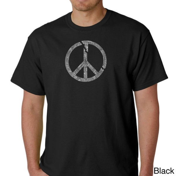 Los Angeles Pop Art Men's Short-Sleeve Peace Symbol T-Shirt