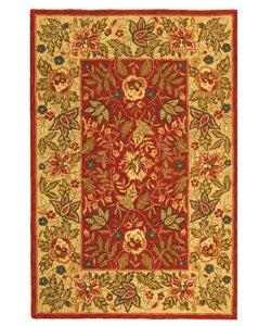 Safavieh Handmade Boitanical Red/ Ivory Wool Rug (3'9 x 5'9)