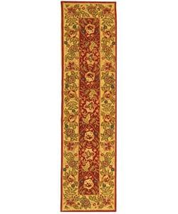 Safavieh Handmade Boitanical Red/ Ivory Wool Runner (2'6 x 10')