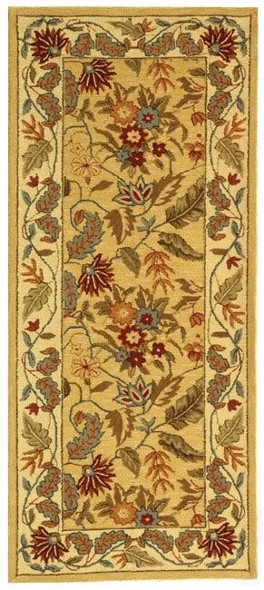 Safavieh Handmade Paradise Ivory Wool Rug (2'6 x 6')