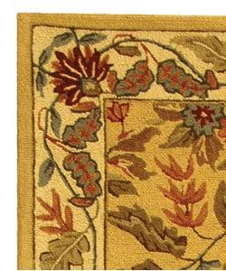 Handmade Paradise Ivory Wool Rug (2'6 x 10')