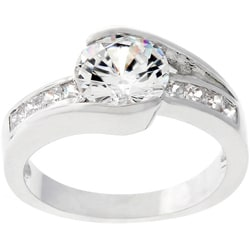 Kate Bissett Silvertone Clear Cubic Zirconia Bridal-inspired Ring