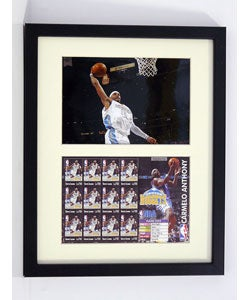 Carmelo Anthony Framed and Matted Basketball Postage Stamp Collection