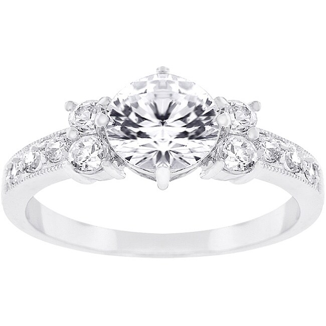 Kate Bissett Silvertone Cubic Zirconia Bridal-inspired Ring