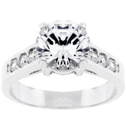 Kate Bissett Silvertone Bridal-inspired CZ Ring