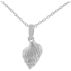 Tressa Sterling Silver High Polish Conch Shell Necklace