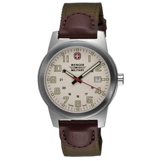 Wenger Men's Olive Nylon Strap Classic Field Watch
