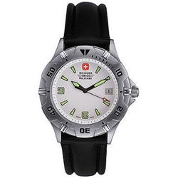 Wenger Men's Brigade Black Rubber Strap Watch