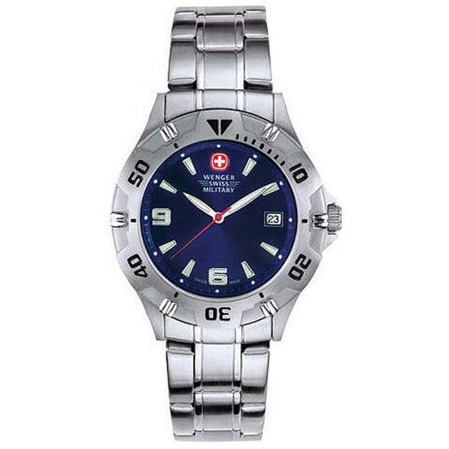 Wenger Men's Brigade Blue Dial Bracelet Watch
