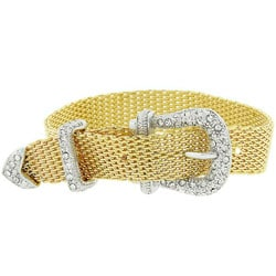 Kate Bissett Two-tone Buckle Crystal Bracelet