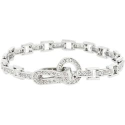 Kate Bissett Silvertone Cubic Zirconia Bracelet