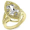 Kate Bissett Goldtone Estate-inspired Cubic Zirconia Ring