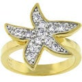 Kate Bissett Goldtone Pave Cubic Zirconia Starfish Fashion Ring