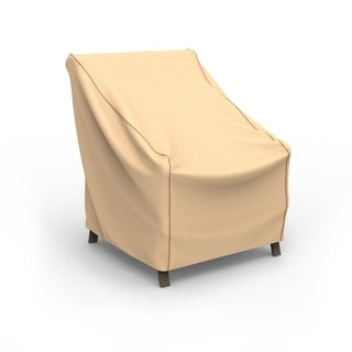 Budge Waterproof Outdoor Patio Chair Cover, Sedona, Tan, Multiple Sizes