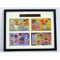 Kids Did It! Flowers Framed Stamp Collection
