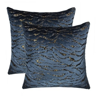 Olivia Quido Breeze Luxury Cut Velvet 20-inch Pillow 2-pack