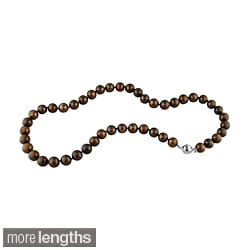 Miadora Cultured Brown 8-9mm Freshwater Pearl Necklace (18-24 inch)
