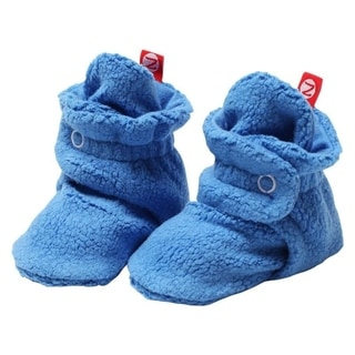 Zutano Light Blue Cozie Fleece Booties 3M 6M 9M 12M 18M Baby Socks