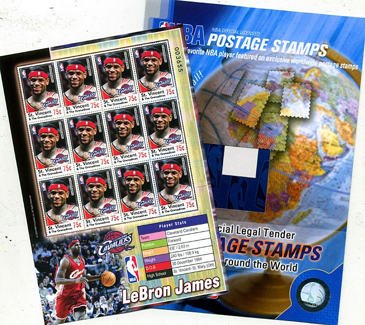 LeBron James Stamp Sheet and Folio Set