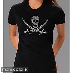 Los Angeles Pop Art Pirate Flag Jolly Roger Women's T-shirt