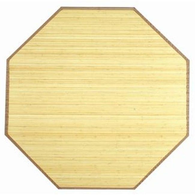 Natural Bamboo Rug (3' Octagon)