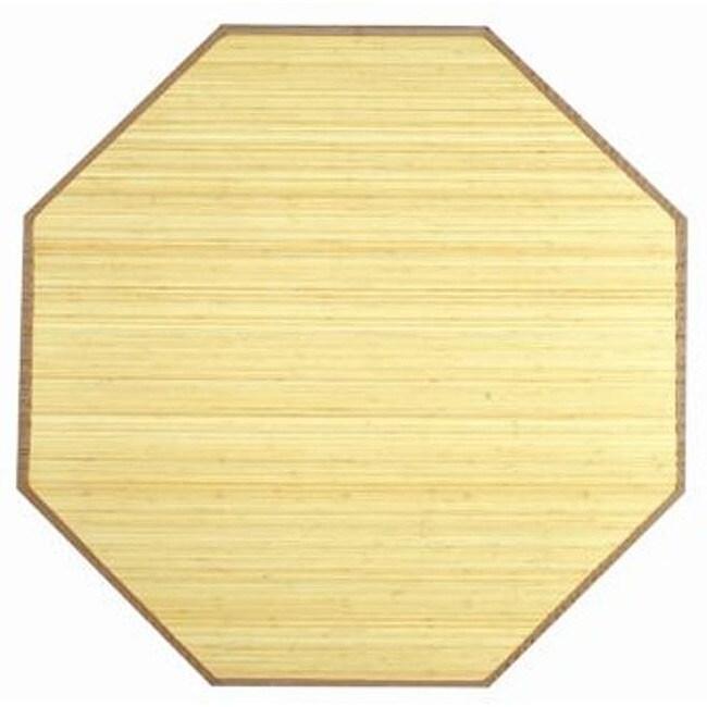 Natural Rayon from Bamboo Rug (5' Octagonal)