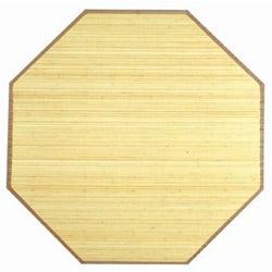 Natural Bamboo Rug (5' Octagonal)