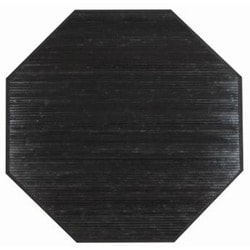 Handmade Black Bamboo Rug (3' Octagonal)