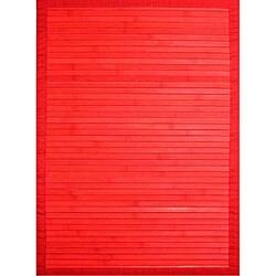 Handmade Red Bamboo Rug (4' x 6')