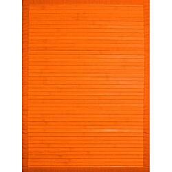 Handmade Orange Bamboo Runner (2' x 7')