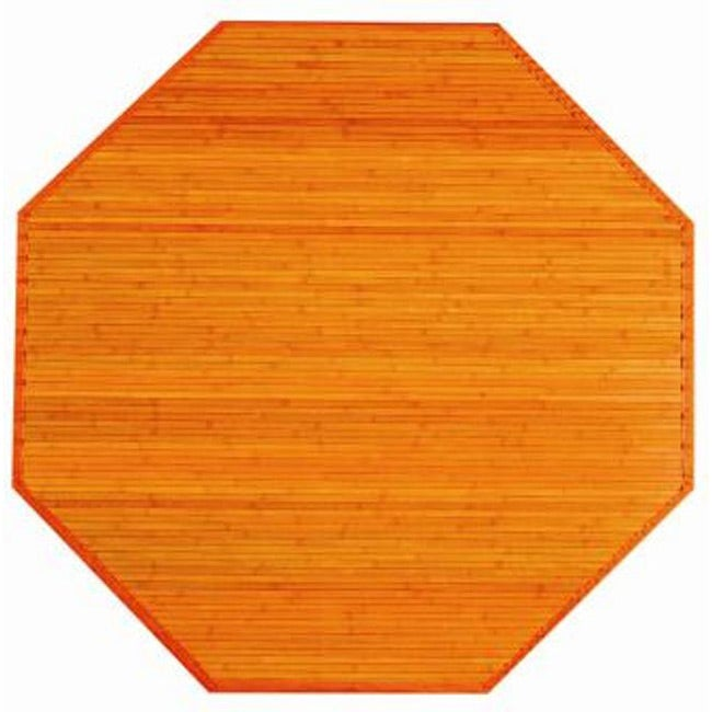 Orange Bamboo Rug (3' Octagonal)
