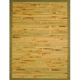 Handmade Variegated Bamboo Rug (4' x 6')