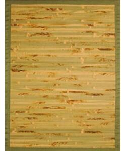 Handmade Variegated Bamboo Rug (5' x 7')