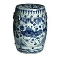 Handmade Fish Motif Chinese Porcelain Garden Stool (China)