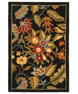 Safavieh Handmade Paradise Black Wool Rug (1'8 x 2'6)