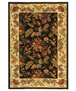 Safavieh Handmade Paradise Black Wool Rug (3'9 x 5'9)